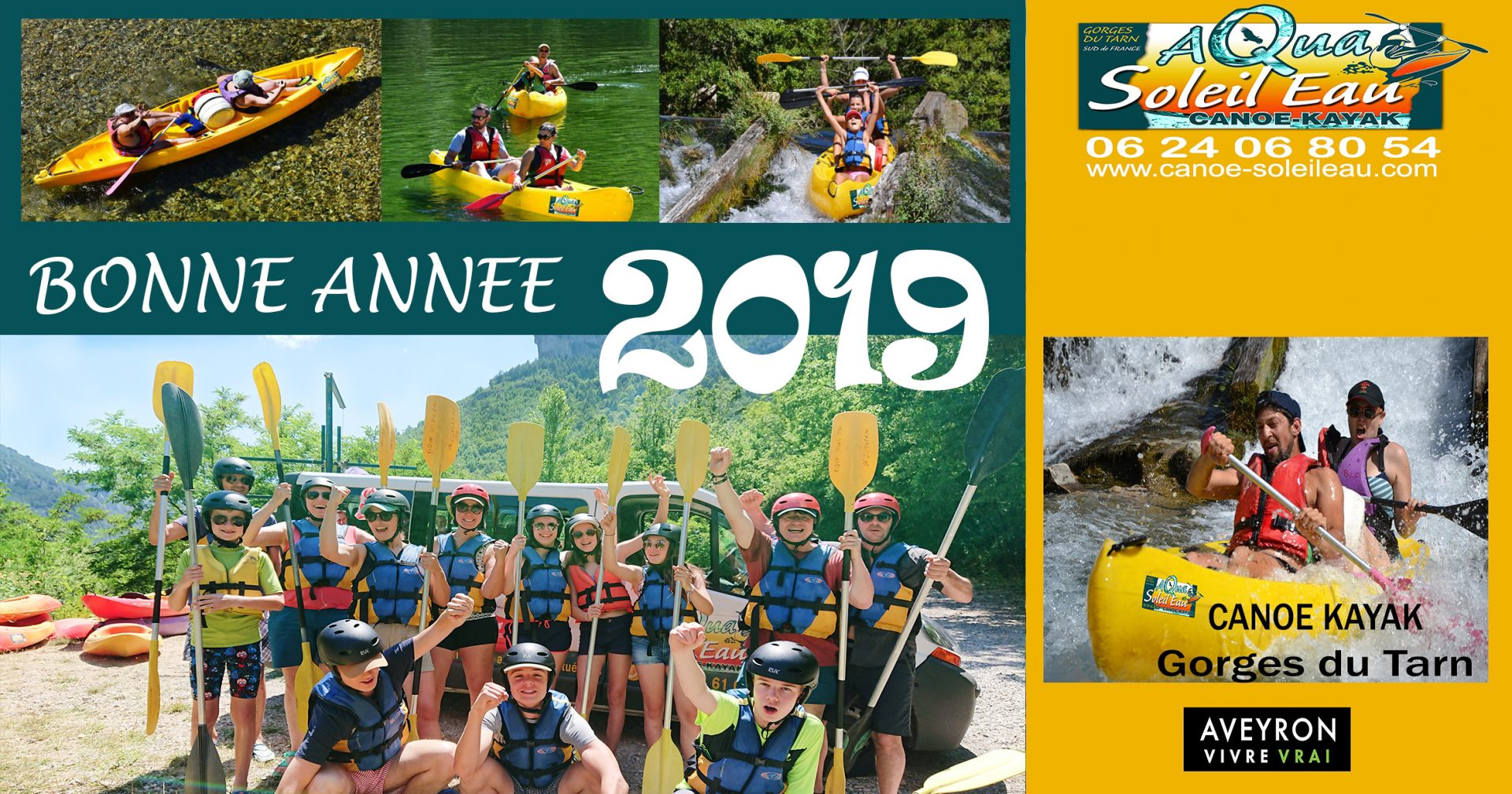 Bonne année 2019 et descente en canoe dans les Gorges du Tarn au coeur de l'Aveyro